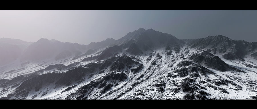 Terrain mountains royalty-free 3d model - Preview no. 1