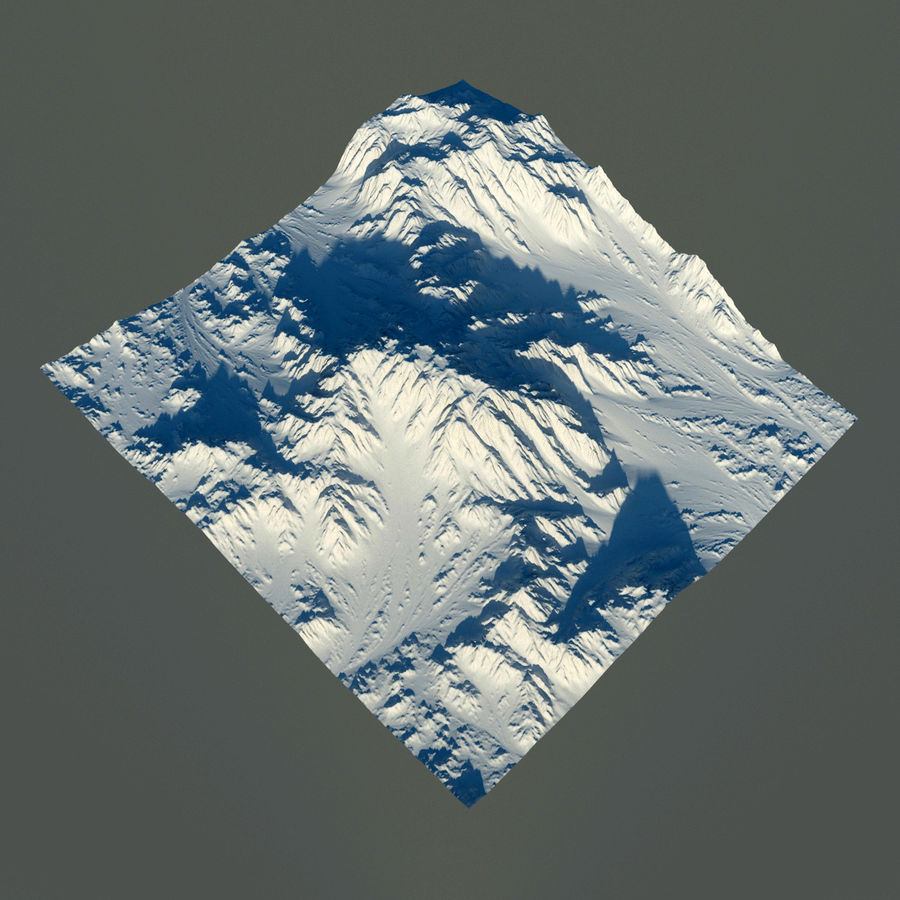 Terrain mountains royalty-free 3d model - Preview no. 9