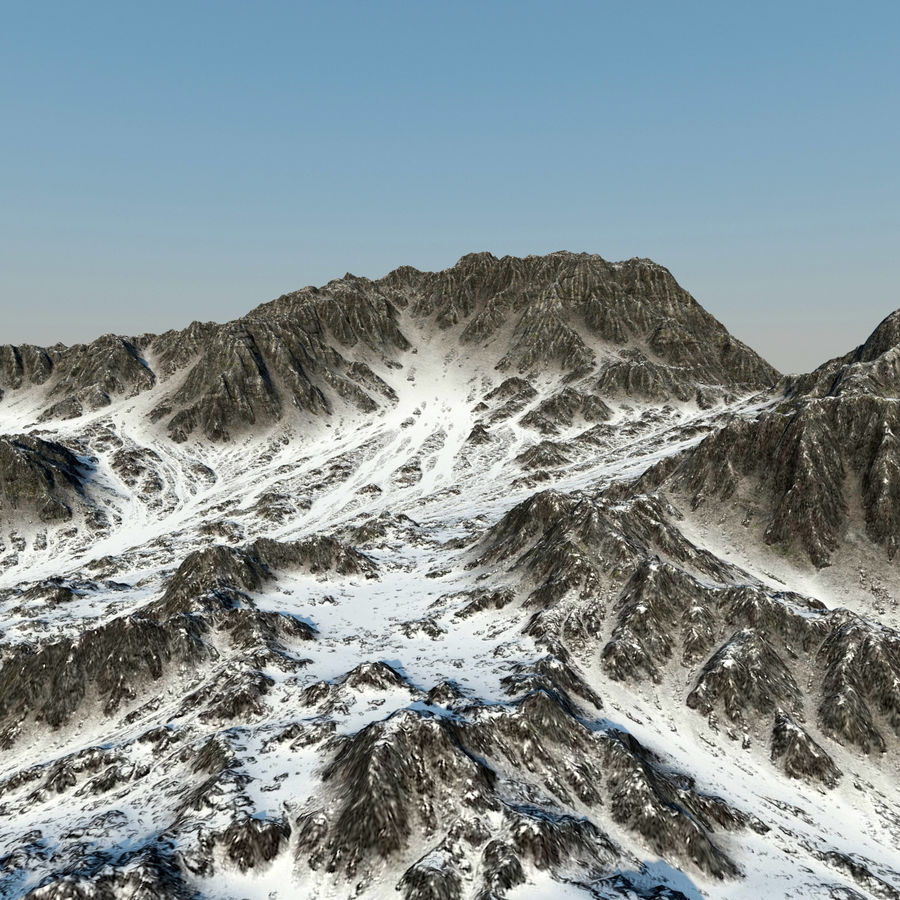 Terrain mountains royalty-free 3d model - Preview no. 7