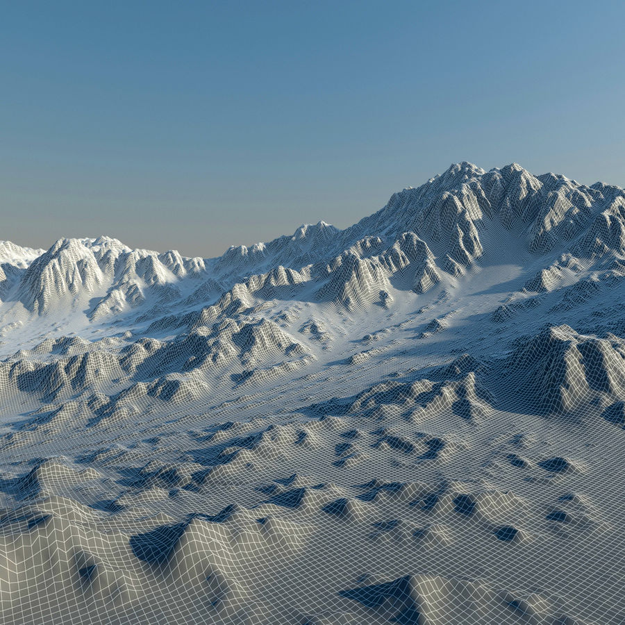 Terrain mountains royalty-free 3d model - Preview no. 12
