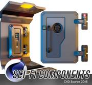 Sci-Fi-komponenter 3d model