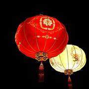 Chinese red lantern 3d model