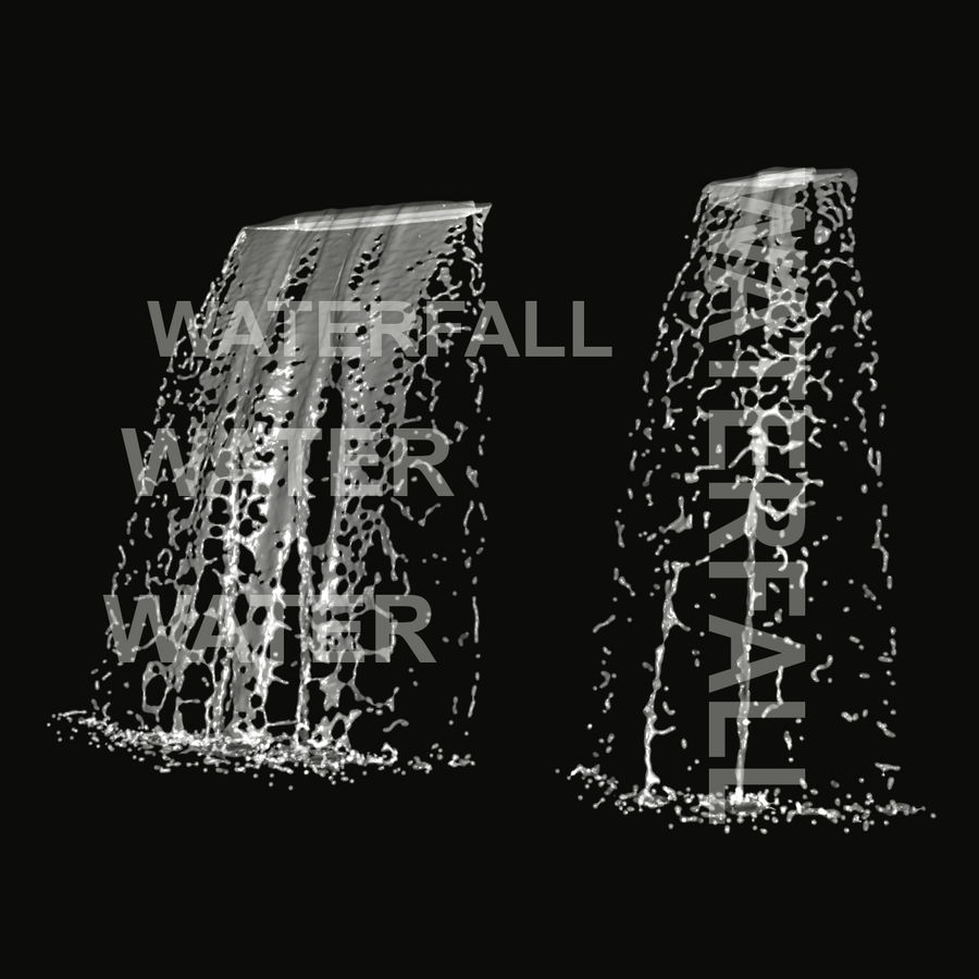 Vattenfall royalty-free 3d model - Preview no. 1