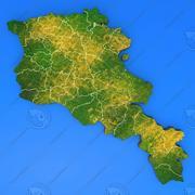 Szczegółowa mapa kraju Armenia 3d model