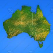 Szczegółowa mapa kraju Australia 3d model