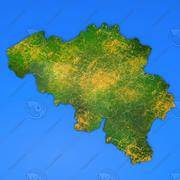Szczegółowa mapa kraju Belgia 3d model