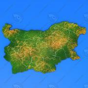 Szczegółowa mapa kraju Bułgaria 3d model