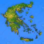 Mappa dettagliata del paese della Grecia 3d model