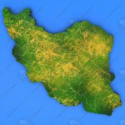 Szczegółowa mapa kraju Iran 3d model