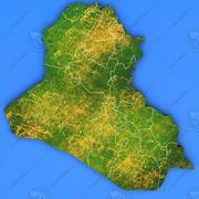 Szczegółowa mapa kraju Iraku 3d model