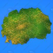 Szczegółowa mapa kraju Macedonia 3d model