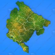 Szczegółowa mapa kraju Czarnogóra 3d model