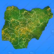 Nigeria detailed country map 3d model