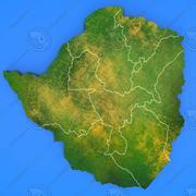 Szczegółowa mapa kraju Zimbabwe 3d model