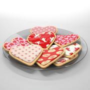 Galletas de San Valentín modelo 3d