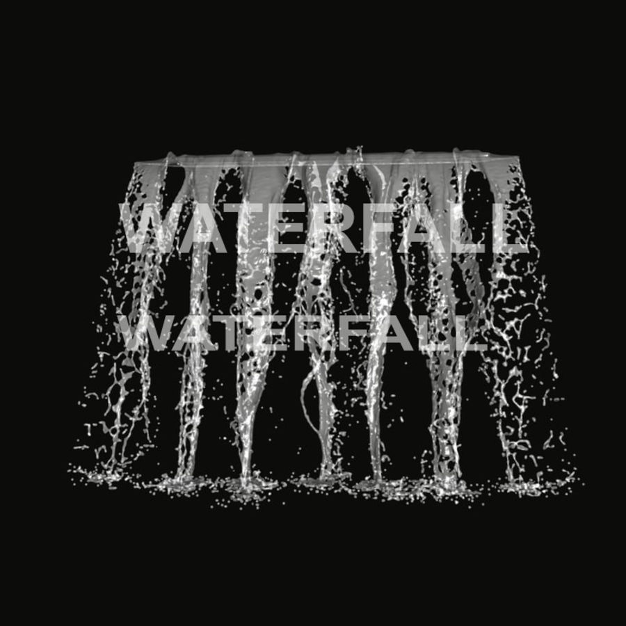 Vattenfall royalty-free 3d model - Preview no. 2