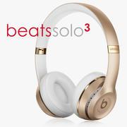 Solo3 Gold Kablosuz Kulak İçi Kulaklıklar 3d model