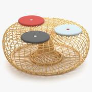 Cane Line Nest Stor fotpall 3d model