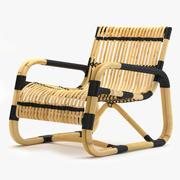 Chaise longue curva Cane-Line 3d model