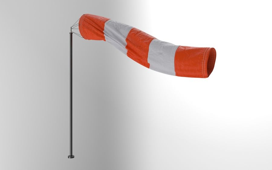 Windsock Animated royalty-free 3d model - Preview no. 9