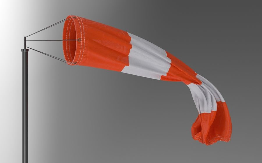 Windsock Animated royalty-free 3d model - Preview no. 2