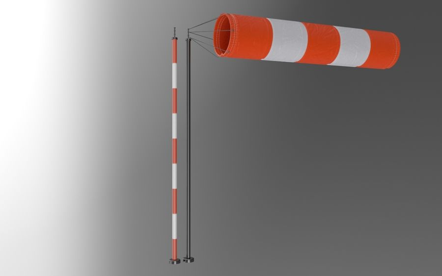 Windsock Animated royalty-free 3d model - Preview no. 8