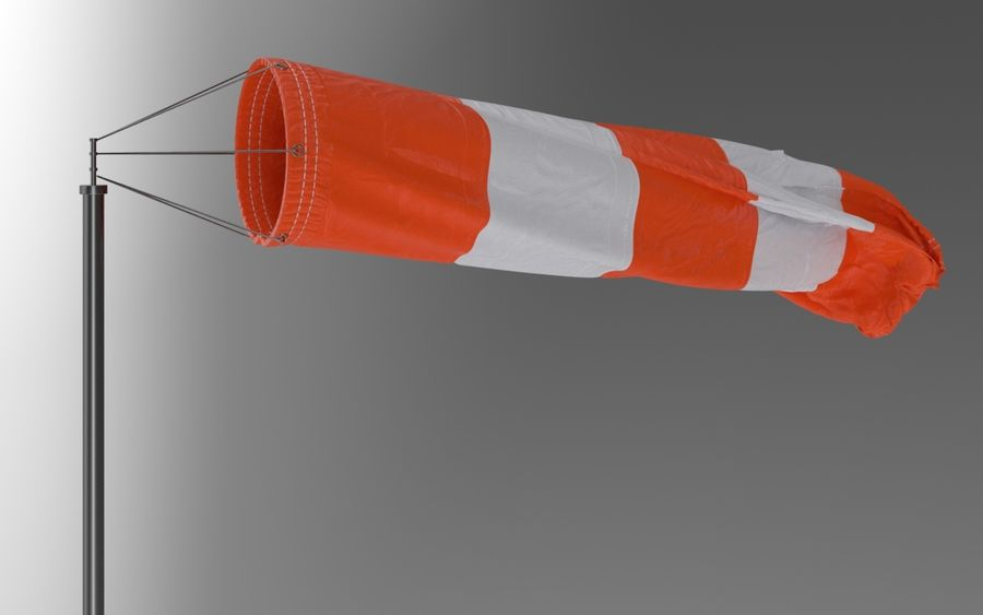 Windsock Animated royalty-free 3d model - Preview no. 5