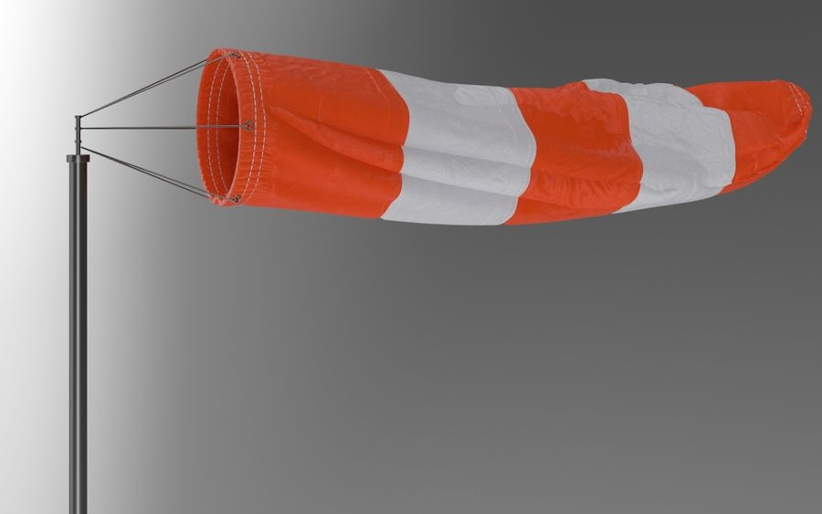 Windsock Animated royalty-free 3d model - Preview no. 3