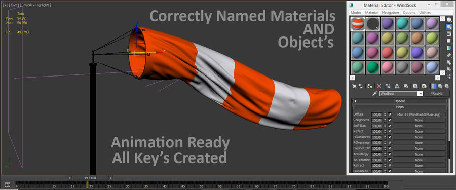 Windsock Animated royalty-free 3d model - Preview no. 16