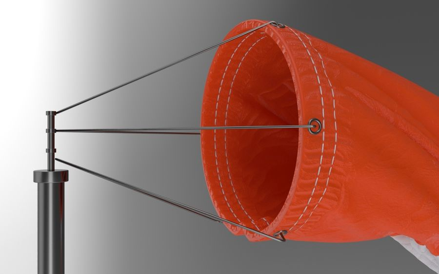 Windsock Animated royalty-free 3d model - Preview no. 6
