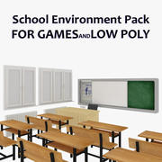 School Interior Environment Pack 3d model