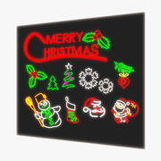 Weihnachts Neon Pack 3d model