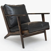 Brooks Leather Lounge Chair 3d model