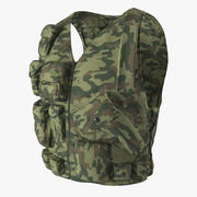 Military Camouflage Vest 3D Model 3d model