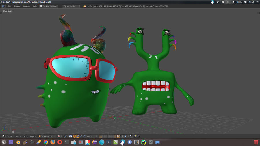 Postacie royalty-free 3d model - Preview no. 6