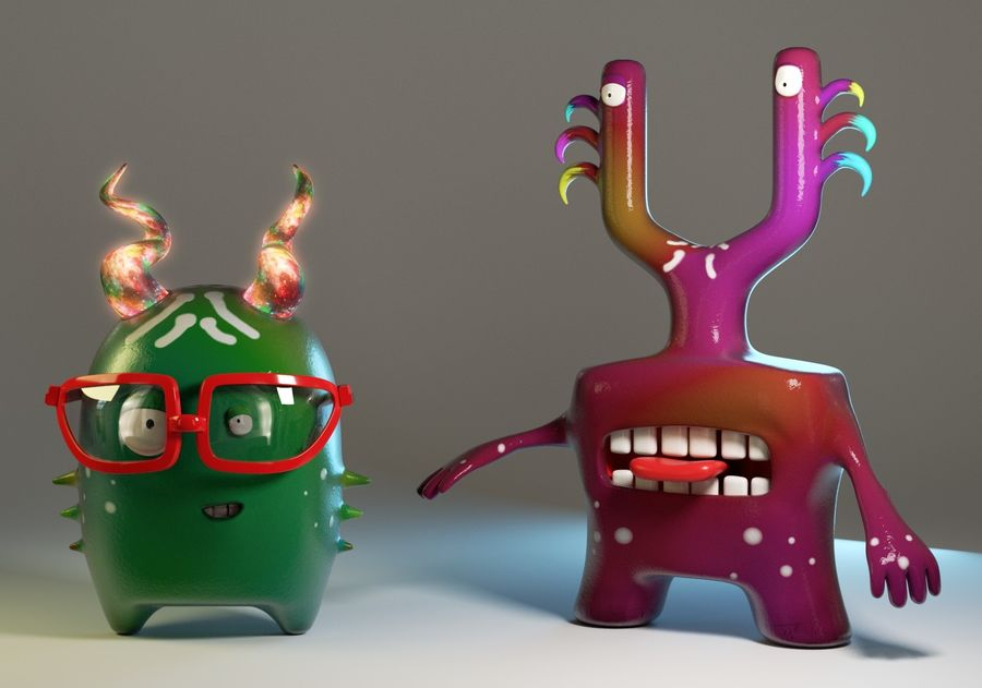Postacie royalty-free 3d model - Preview no. 1
