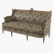 维多利亚时代的沙发 3d model