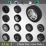 Pack Tyre - Low Poly 3d model