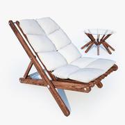 日光浴床舒适表 3d model