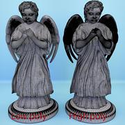 기도 천사의 동상 3d model