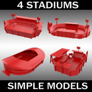 Stadium - collection of 4 3d model