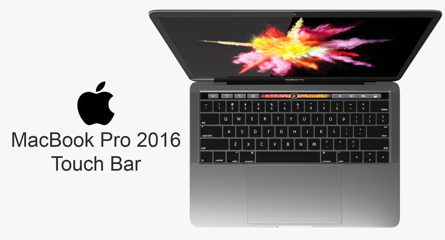 MacBook Pro Touch Bar 2016 de 13 pulgadas royalty-free modelo 3d - Preview no. 1
