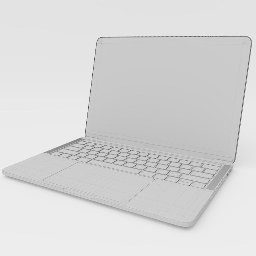 MacBook Pro Touch Bar 2016 de 13 pulgadas royalty-free modelo 3d - Preview no. 19