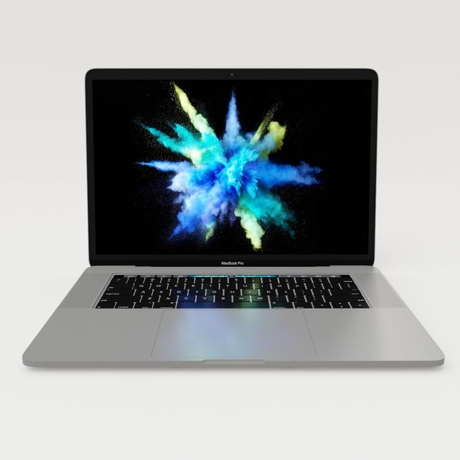 Barra táctil MacBook Pro de 15 pulgadas royalty-free modelo 3d - Preview no. 9