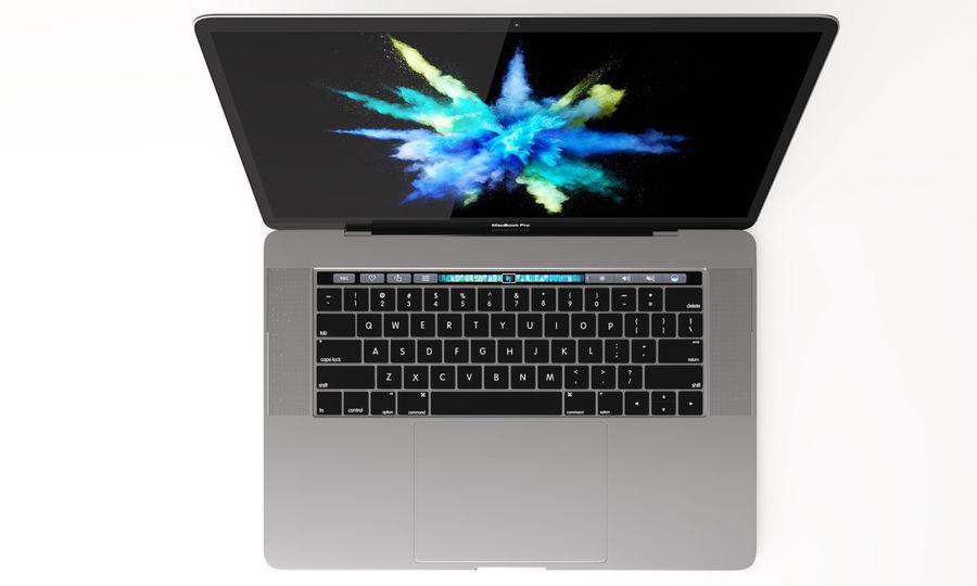 Barra táctil MacBook Pro de 15 pulgadas royalty-free modelo 3d - Preview no. 2