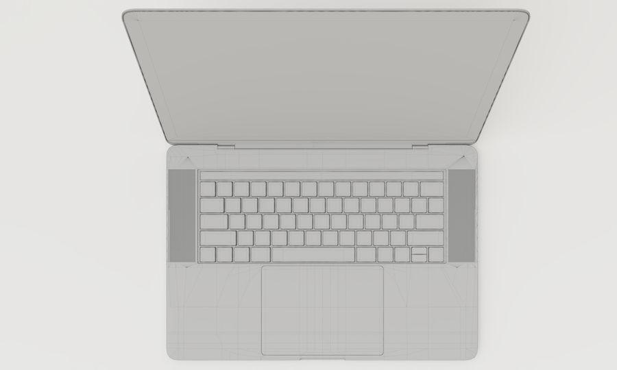 Barra táctil MacBook Pro de 15 pulgadas royalty-free modelo 3d - Preview no. 17