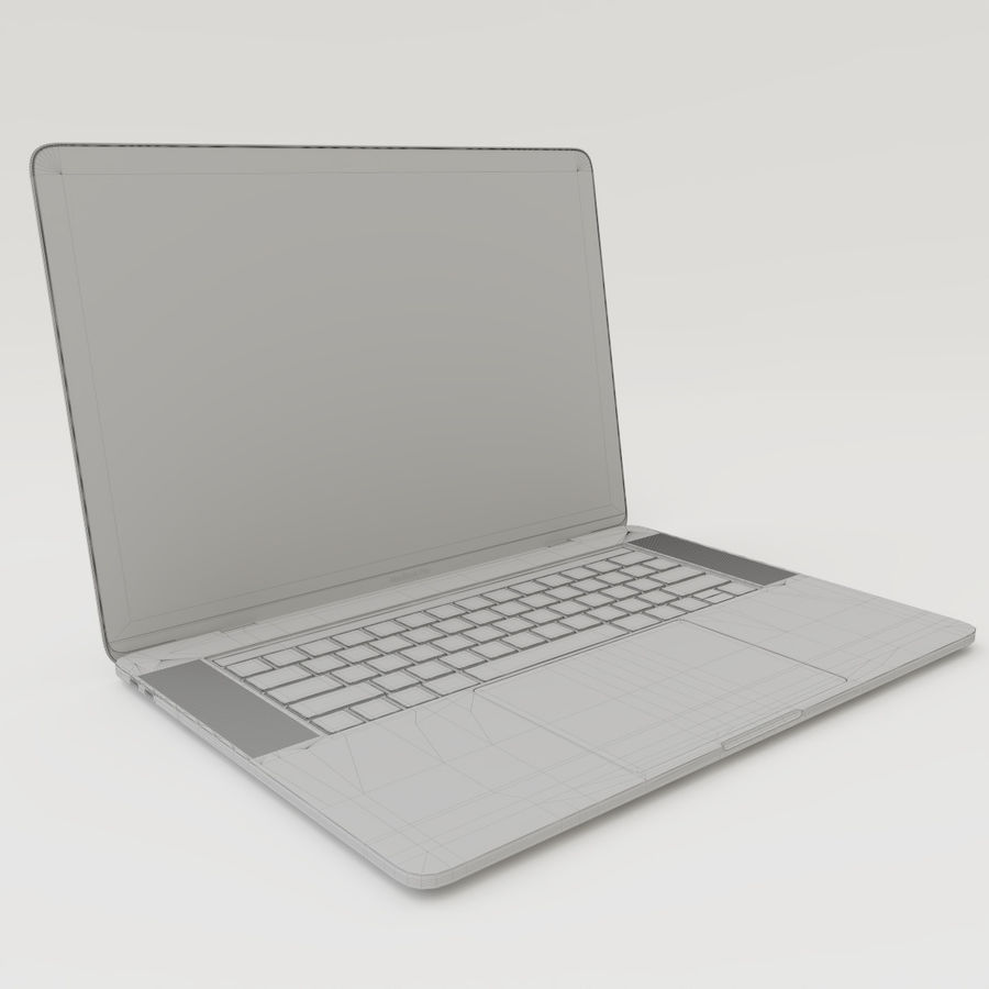 Barra táctil MacBook Pro de 15 pulgadas royalty-free modelo 3d - Preview no. 21