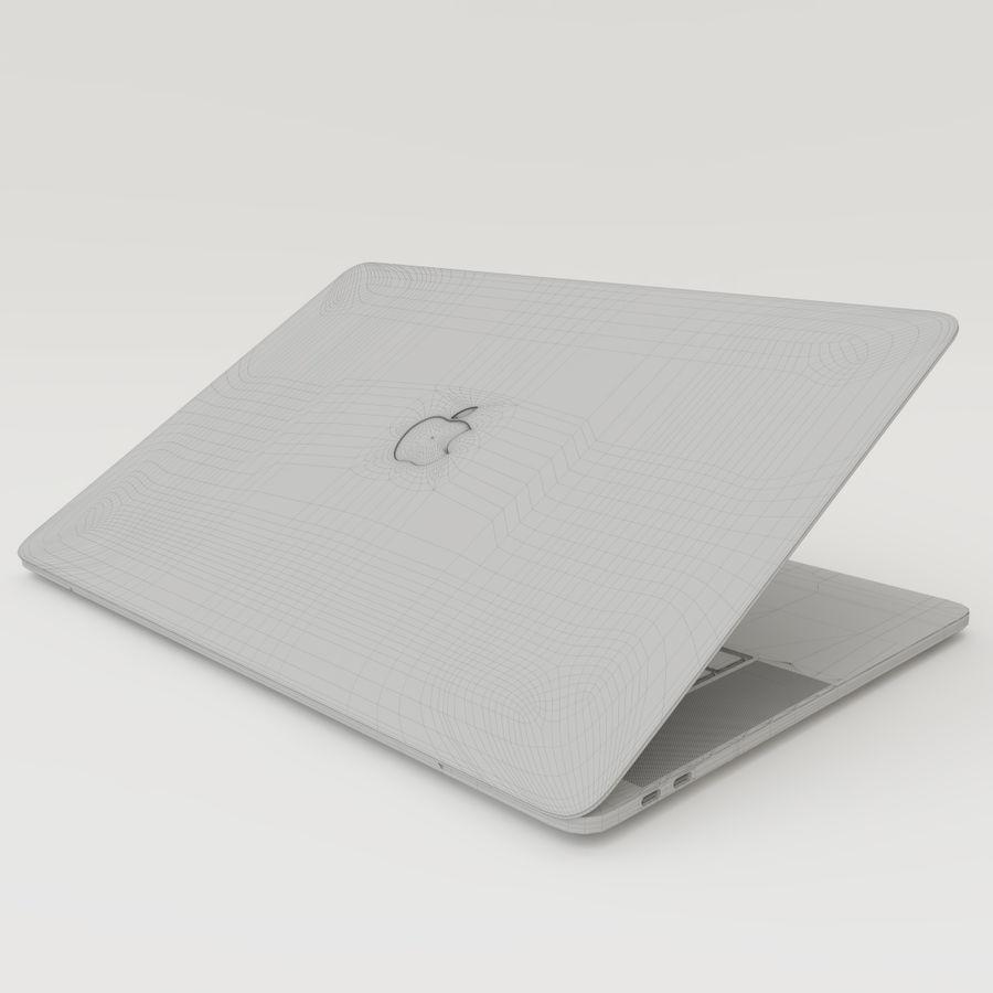 Barra táctil MacBook Pro de 15 pulgadas royalty-free modelo 3d - Preview no. 19