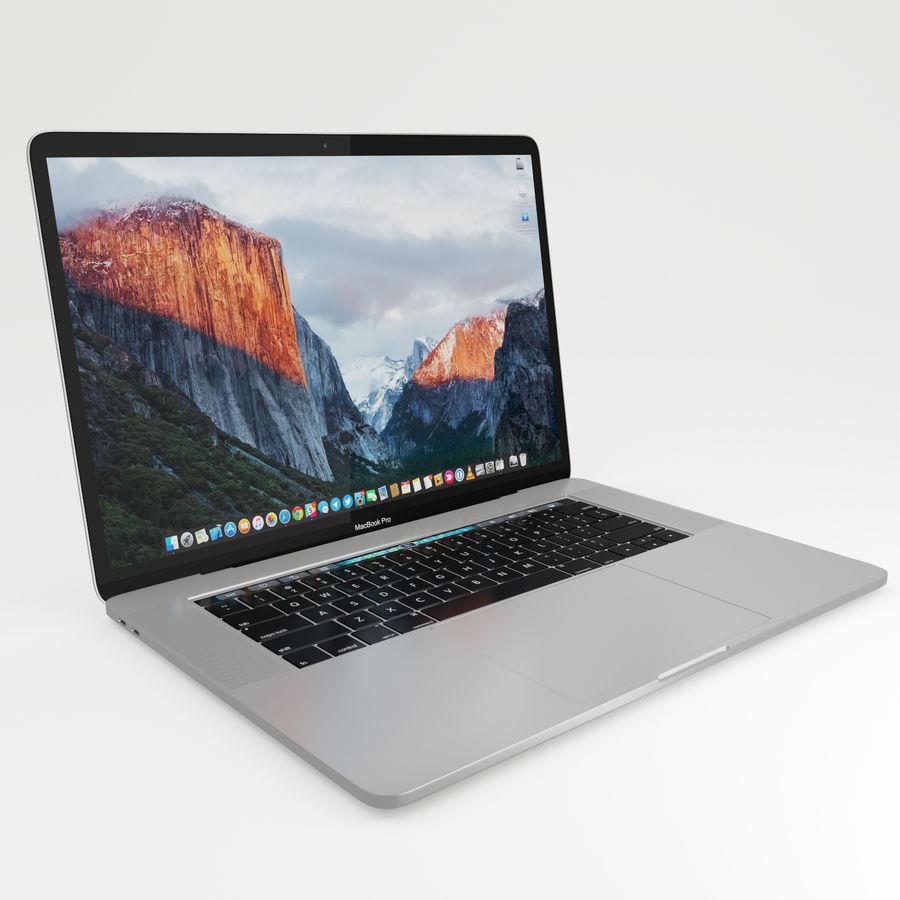 Barra táctil MacBook Pro de 15 pulgadas royalty-free modelo 3d - Preview no. 5