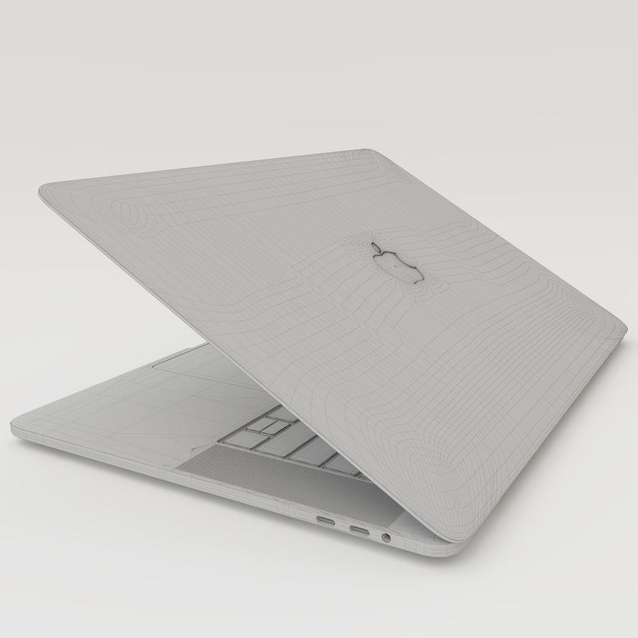 Barra táctil MacBook Pro de 15 pulgadas royalty-free modelo 3d - Preview no. 20